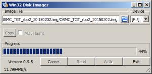 Win32DiskImager flashing OSMC